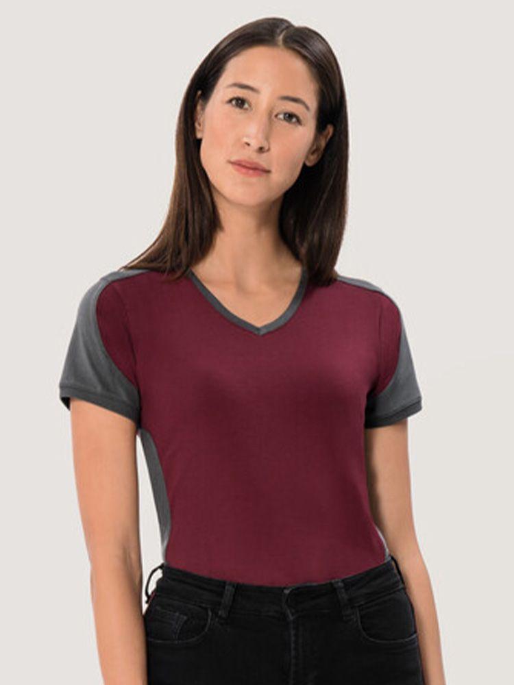 Womens Contrast Performance V-Shirt