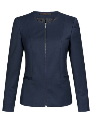 Women's Round Neck Blazer Modern with 37.5 Regular Fit
