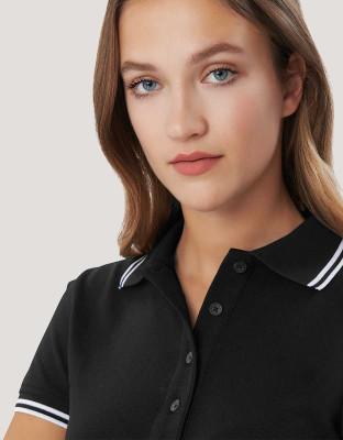 Damen Poloshirt Stripe