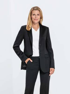 Damen Langblazer Basic Comfort Fit