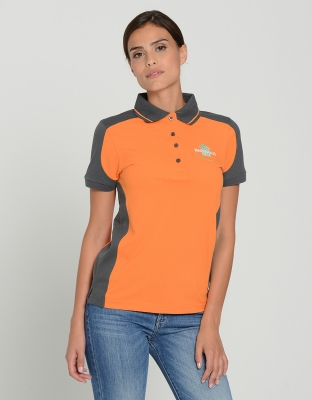 Womens Performance Polo Contrast