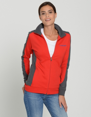 Womens Performance Sweat Jacket Contrast