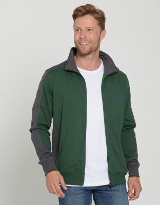 Mens Performance Sweat Jacket Contrast