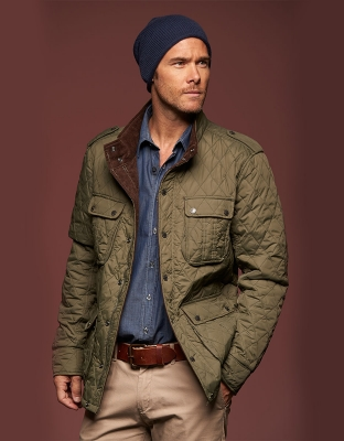 Mens Quilted Jacket Diamond