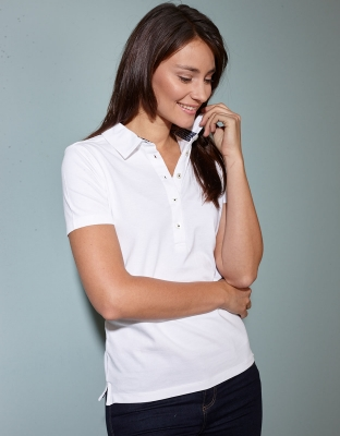 Damen Poloshirt Used Look