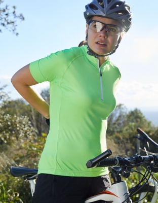 Womens Bike Shirt Half Zip