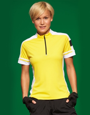 Womens Bike Shirt Cooldry Half Zip