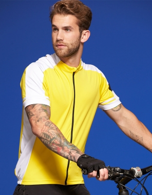 Mens Bike Shirt Cooldry Full Zip