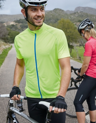 Mens Bike Shirt Full Zip