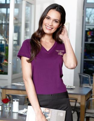 Womens V-Shirt Classicanthrazit