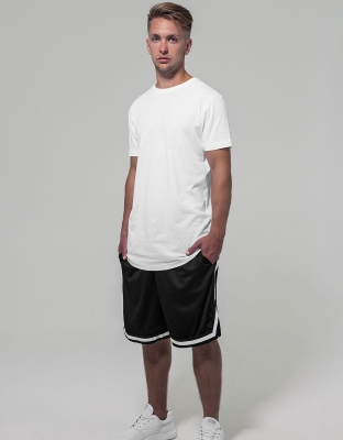 Mens Shorts Two-Tone Mesh