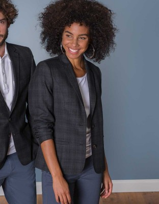 Women's Blazer Casual Checked