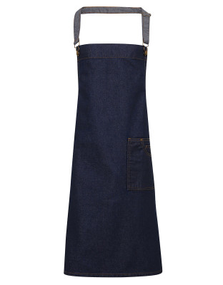 Denim Bib Apron District with Waxed Look