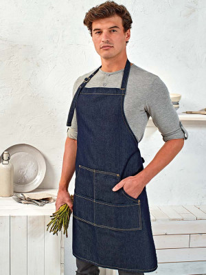 Denim Bib Apron Jeans Stitch