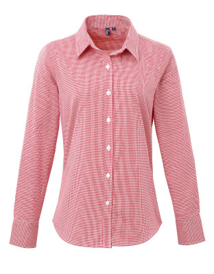 Bluse Gingham Microcheck