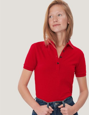 Damen Poloshirt Cotton-Tec