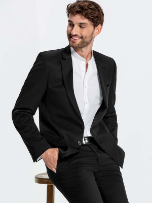 Herren Blazer Basic Slim Fit