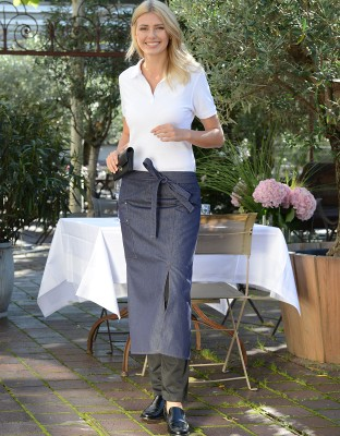 Sacramento Jeans Bistro Apron with Walking Slit