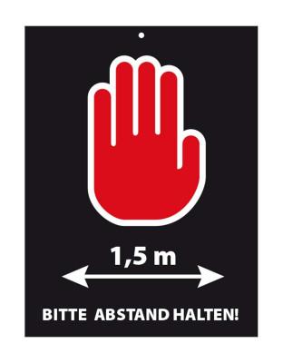 """Türschild """"Bitte Abstand halten"""" 15x20 cm"""