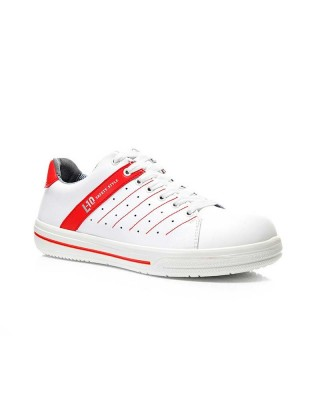 Professional shoe NORRIS white-red Low ESD O1