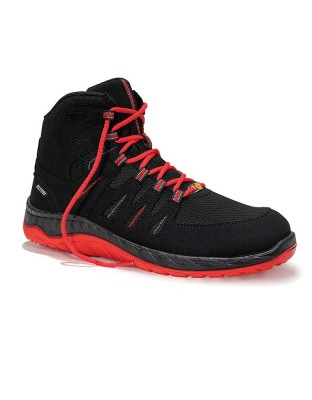 Safety shoe MADDOX black-red Mid ESD S3