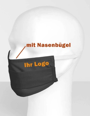 Reusable mask with nose clip printed with your logo