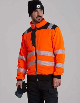 PW3 warning protection sweat jacket