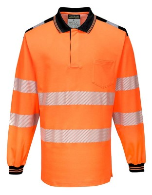 PW3 warning protection polo shirt long sleeve