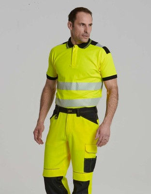 PW3 warning protection poloshirt short sleeve