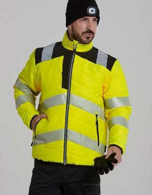 PW3 warning protection quilted jacket