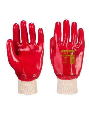 Knitted cuff glove PVC