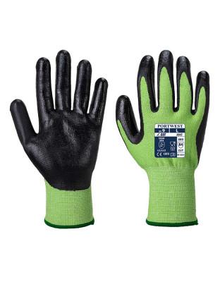Cut Protection Glove Green Cut Nitrile Foam