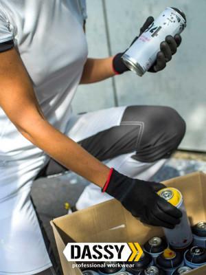 Dassy Damen Malerhose Helix mit Stretch