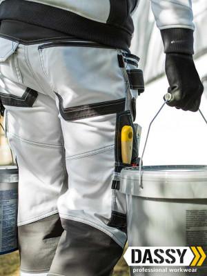 Dassy Malerhose Flux mit Stretch, Holstertaschen und Kniepolstertaschen