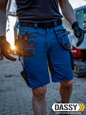 Dassy Arbeitsshorts Trix mit Stretch und Holstertaschen