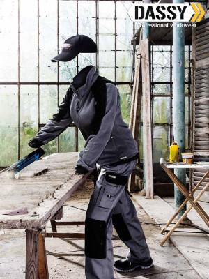 Dassy Damen Arbeitshose Seattle mit Holstertaschen und Kniepolstertaschen zweifarbig