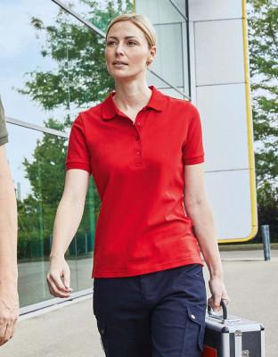 Damen Work BIO Stretch Poloshirt Solid