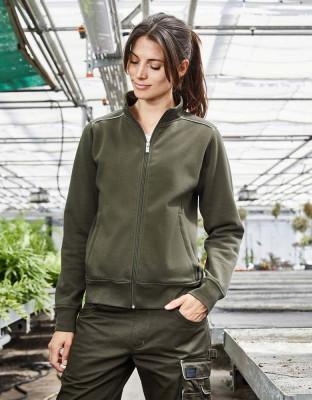 Damen Workwear Sweatjacke Solid