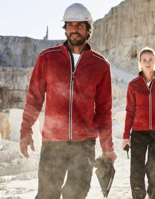 Herren Workwear Knitted Fleece Jacke Solid