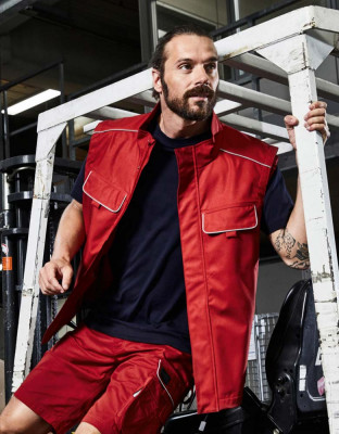 Workwear Softshell Weste leicht Solid