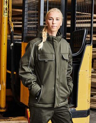 Workwear Softshell Jacke gefüttert Solid