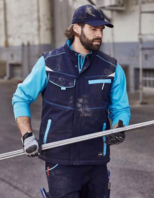 Workwear softshell vest lined Color