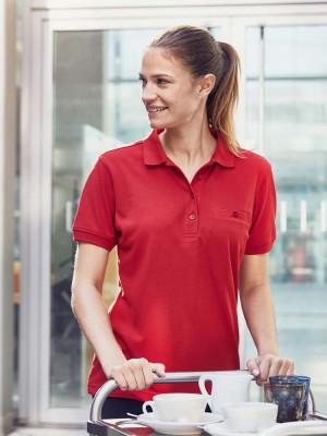 Damen Workwear Poloshirt Pocket Essential
