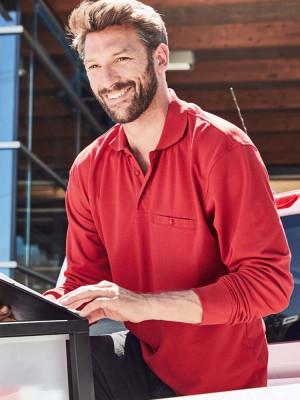 Herren Workwear Poloshirt Pocket Longsleeve Essential